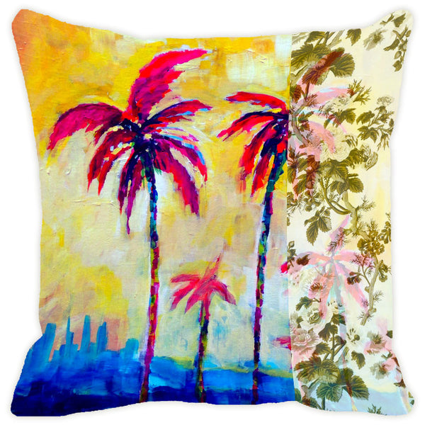 Leaf Designs Magenta Tree Cushion Cover