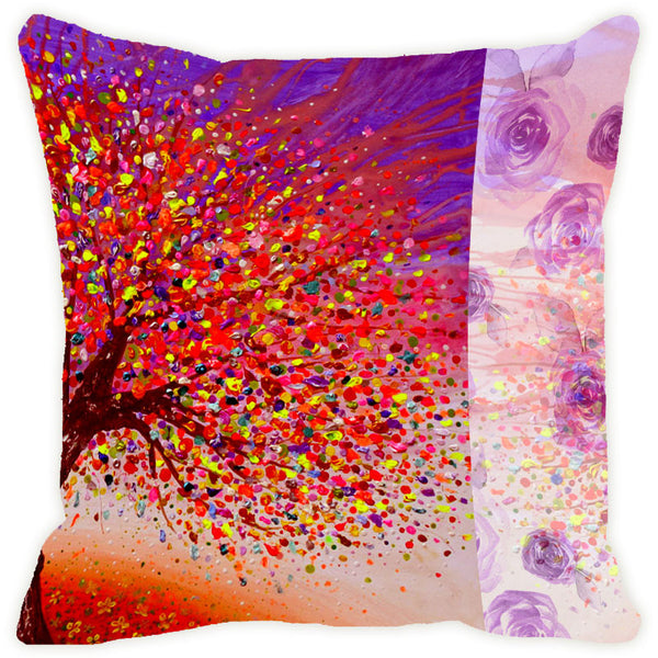 Leaf Designs Orange Tree Cushion Cover