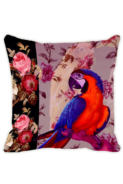 Leaf Designs Light Purple Parrot Cushion Cover - Set Of 2