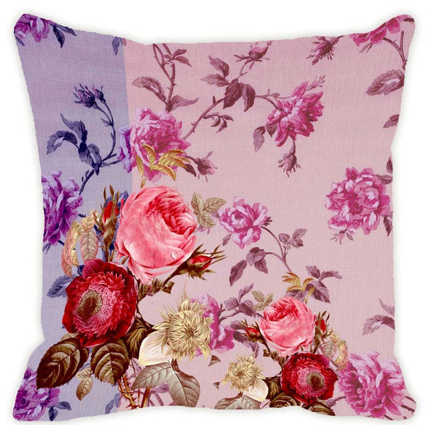 Leaf Designs Light Purple Blossom Cushion Cover
