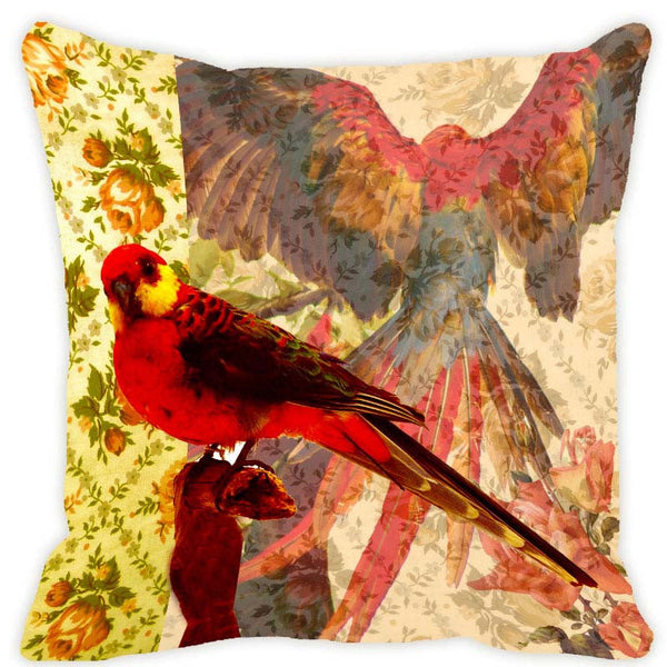 Leaf Designs Lemon Parrot Cushion Cover