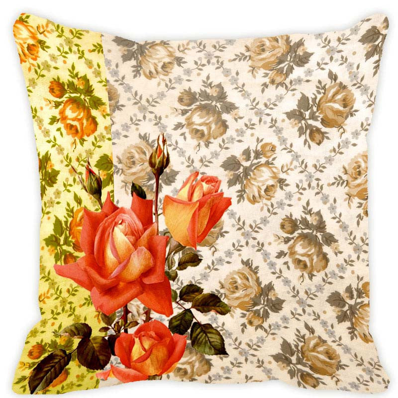 Leaf Designs Lemon Blossom Cushion Cover