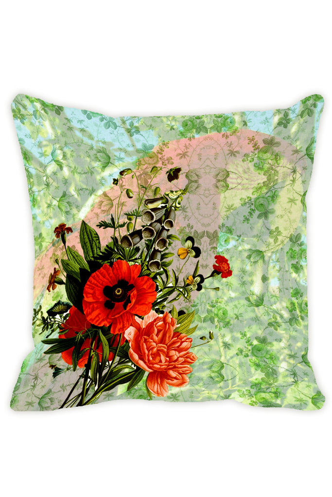 Leaf Designs Green Parrot Cushion Cover - Set Of 2