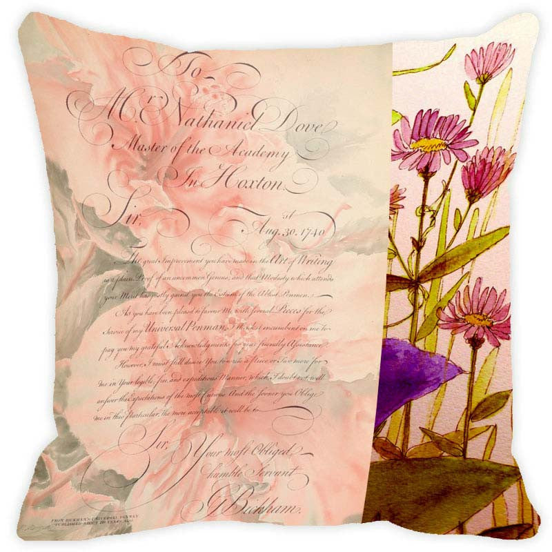 Leaf Designs Taupe Floral Vintage Cushion Cover - Set Of 2