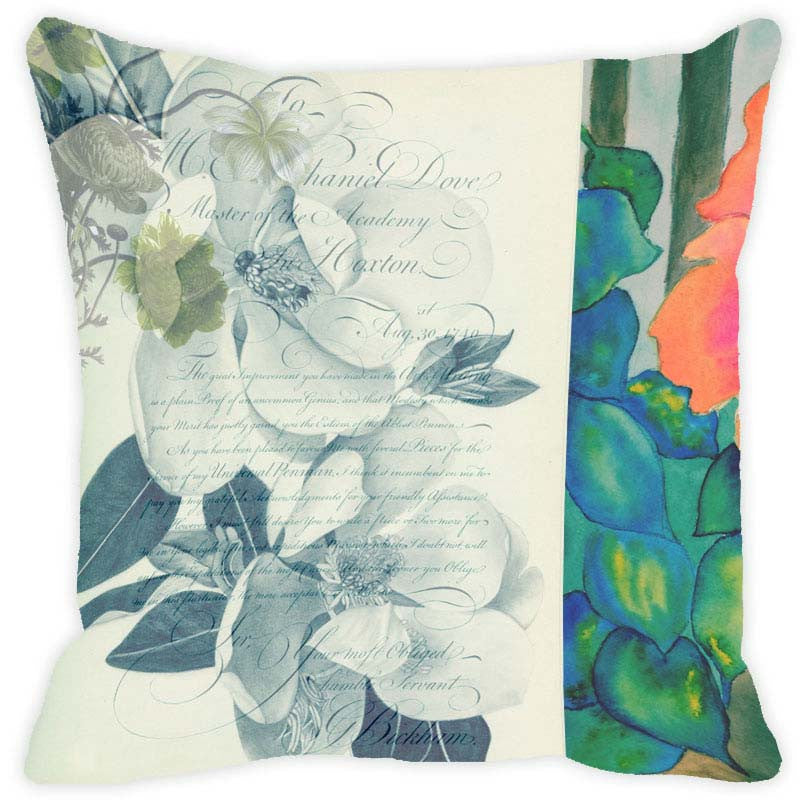 Leaf Designs Light Green Floral Vintage Cushion Cover - Set Of 2