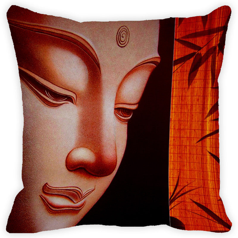Leaf Designs Buddha Orange Cushion Cover