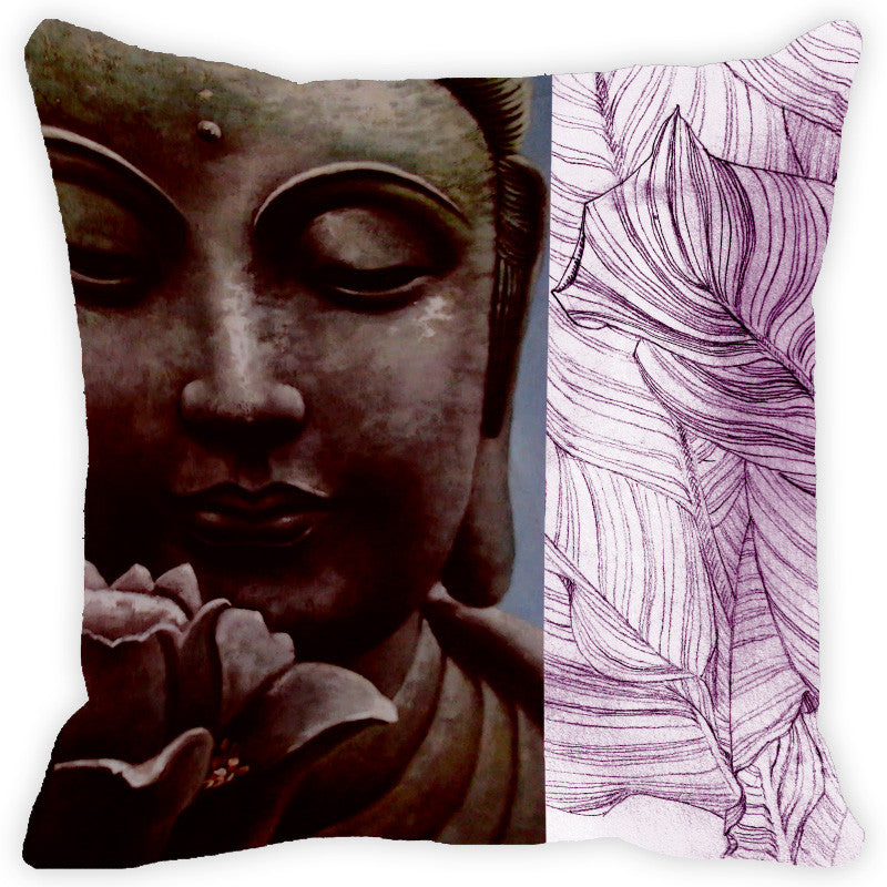 Leaf Designs Lilac Buddha Cushion Cover