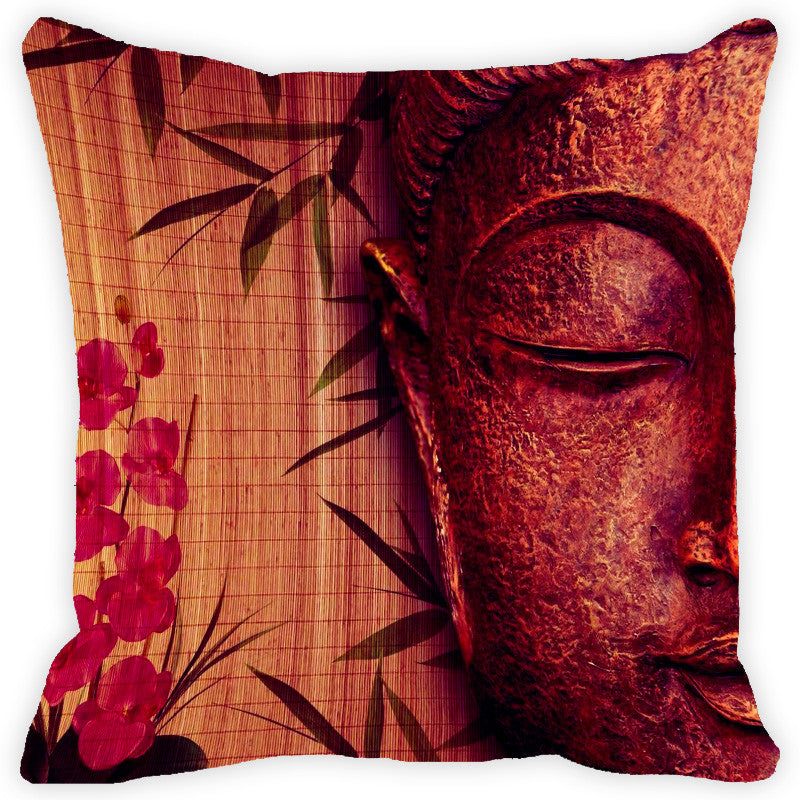 Leaf Designs Floral Buddha Cushion Cover