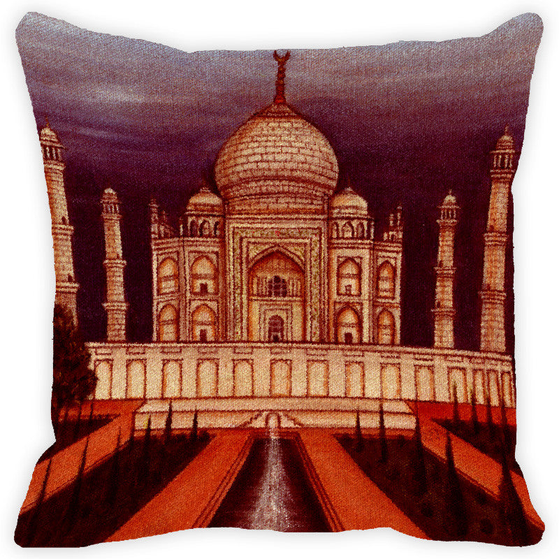 Leaf Designs Dusky Taj Mahal Cushion Cover