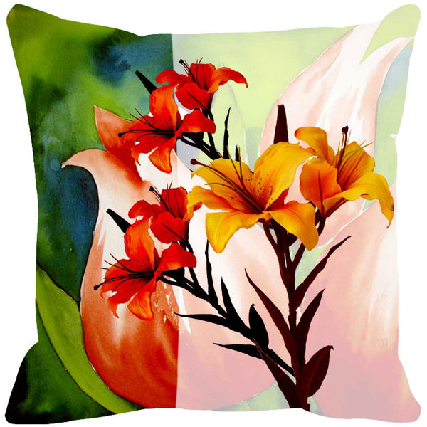 Leaf Designs Green Tones Cushion Cover (A) - Set Of 2