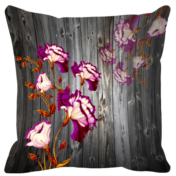 Leaf Designs Grey & White Cushion Cover