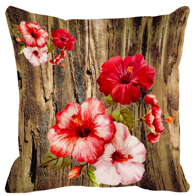 Leaf Designs Natural & Light Pink Cushion Cover