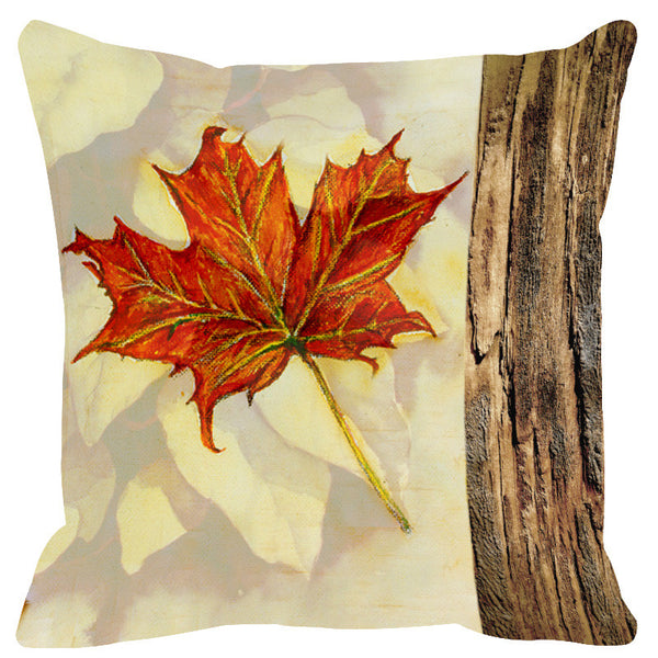 Leaf Designs Lemon & Orange Cushion Cover