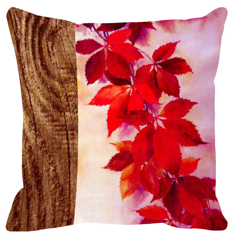 Leaf Designs Natural Pale Pink Cushion Cover