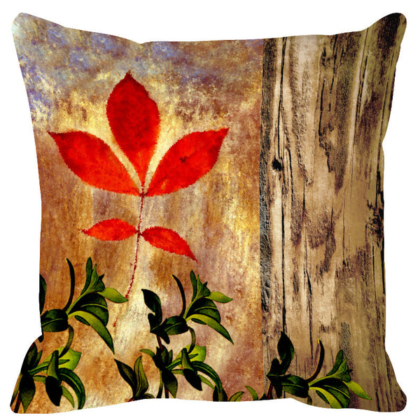 Leaf Designs Natural Canary Cushion Cover