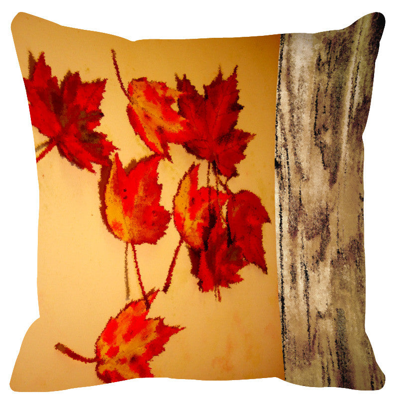 Leaf Designs Natural Honey Cushion Cover