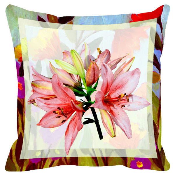 Floral Multicolor Border Cushion Cover