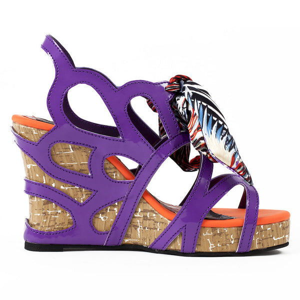 Fabulloso Karma Purple wedge heels