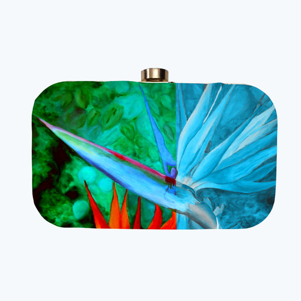 Fabulloso Birds Of Paradise Box Clutch