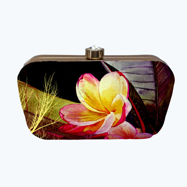 Fabulloso Lemon Floral Box Clutch