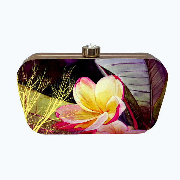 Fabulloso Yellow & Red Dragonfly Box Clutch