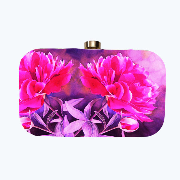 Fabulloso Hot Pink Box Clutch