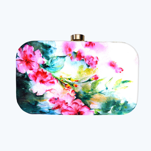 Fabulloso Yellow Butterfly Box Clutch