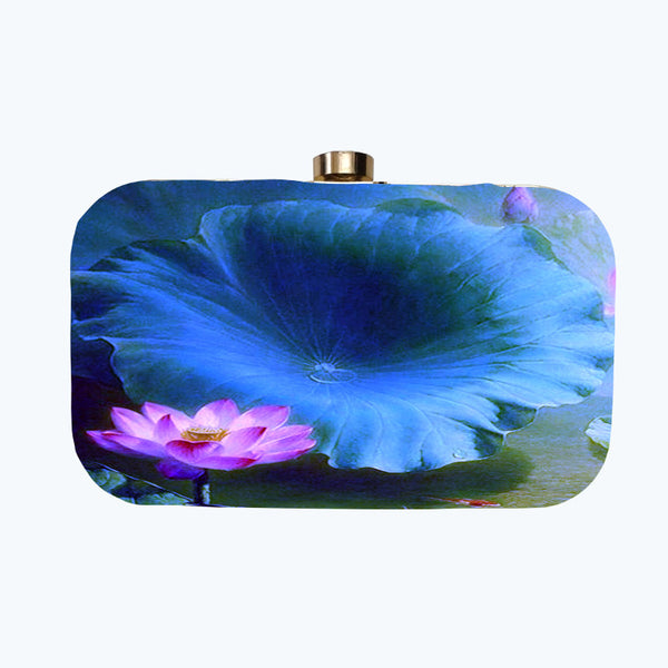 Fabulloso Purple Lotus Box Clutch