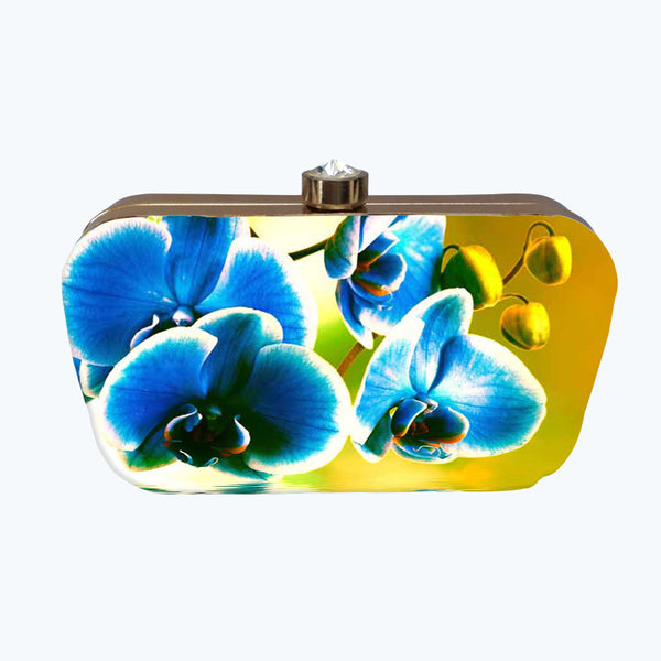 Fabulloso Yellow Tones Box Clutch
