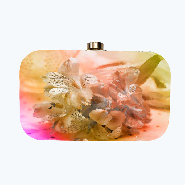 Fabulloso Multi Floral Box Clutch