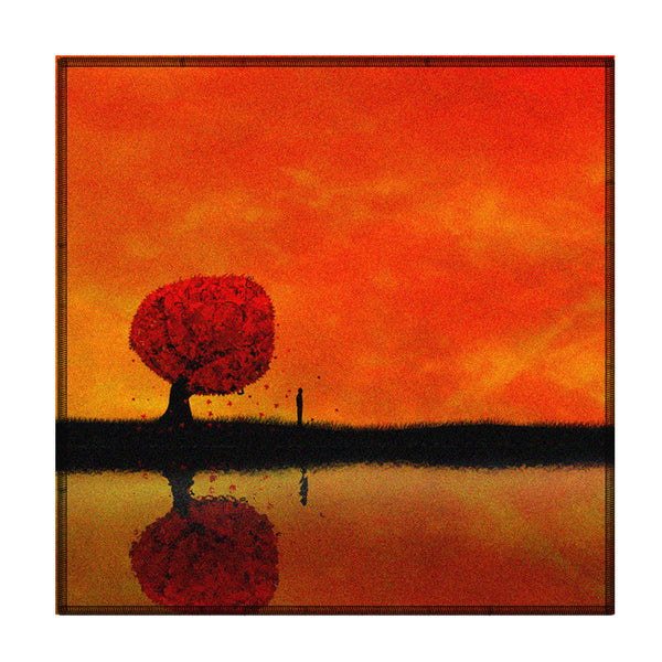Leaf Designs Red Tree Coaster - Set Of 6