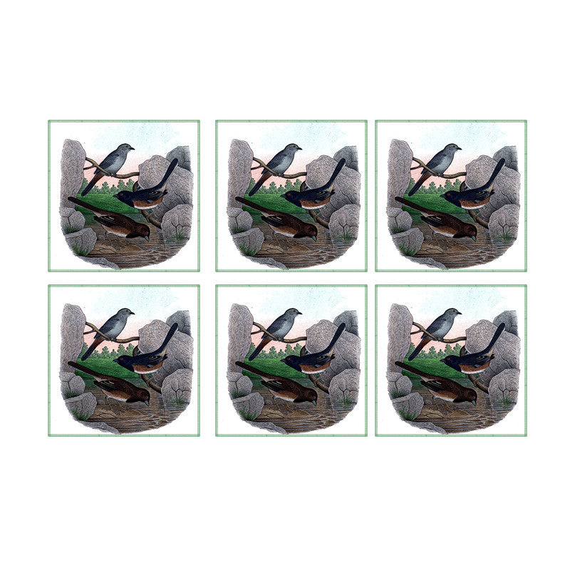 Leaf Designs Bird Sand Stones Coaster - Set Of 6
