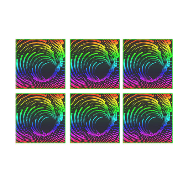 Leaf Designs Multicoloured Illusion Coasters - Set Of 6