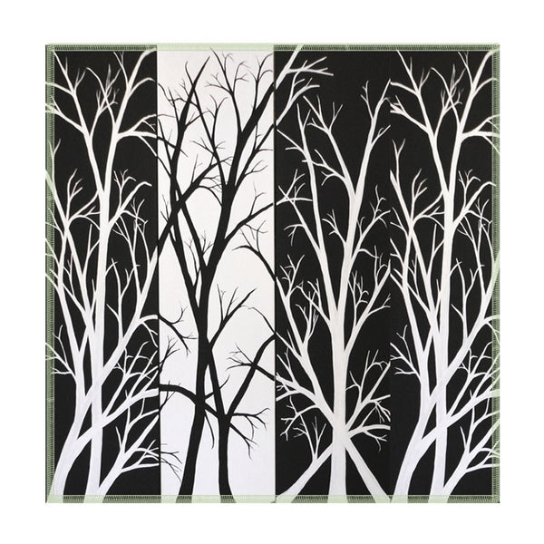 Leaf Designs Black & White Fields Coasters - Set Of 6