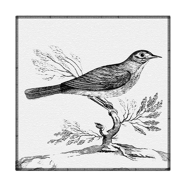 Leaf Designs Sketched Bird Coaster - Set Of 6