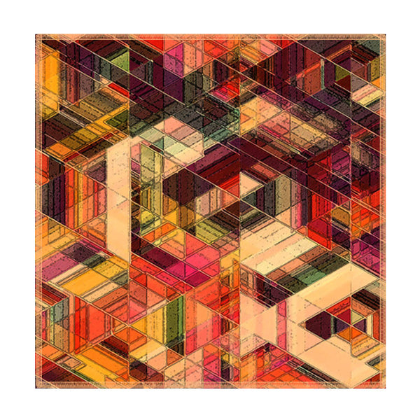 Leaf Designs Multicoloured Geometric Coaster - Set Of 6