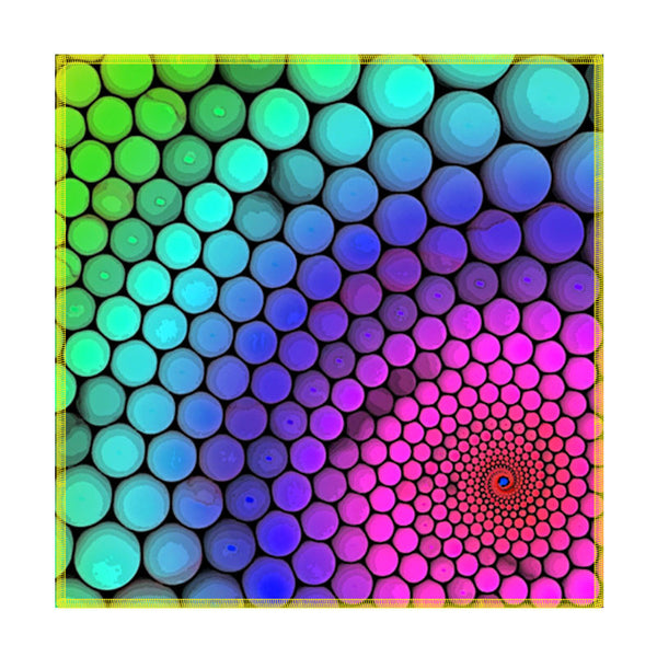 Leaf Designs Multicoloured Hexagon Coaster - Set Of 6