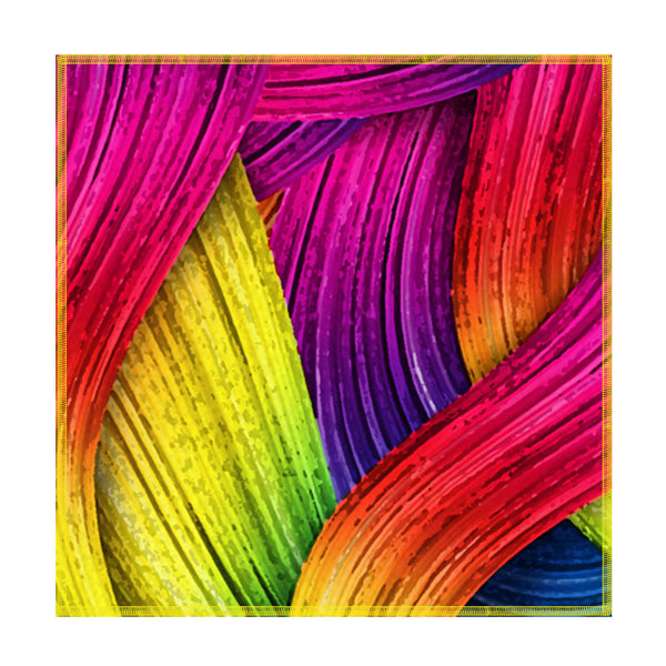 Leaf Designs Multicoloured Paint Brush Coaster - Set Of 6