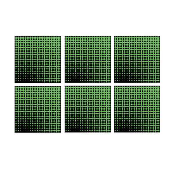 Leaf Designs Green Optical Illusions Coaster - Set Of 6