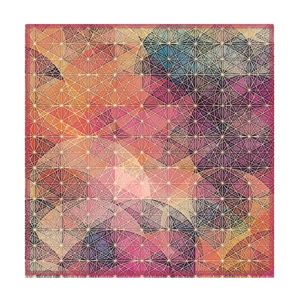 Leaf Designs Multicoloured Diamond Cut Coaster (A) - Set Of 6