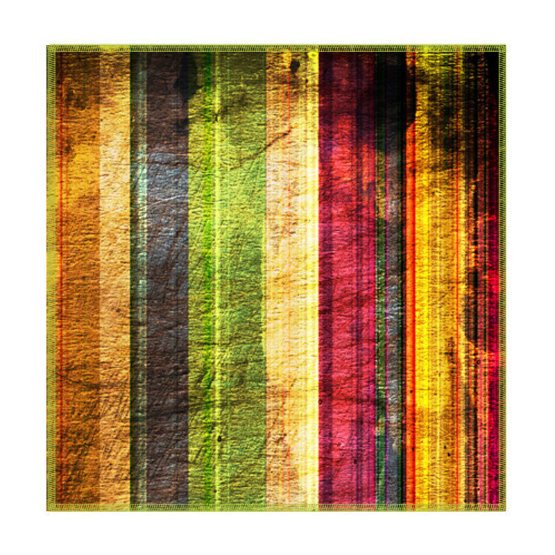 Leaf Designs Multicoloured Stripes Coaster - Set Of 6