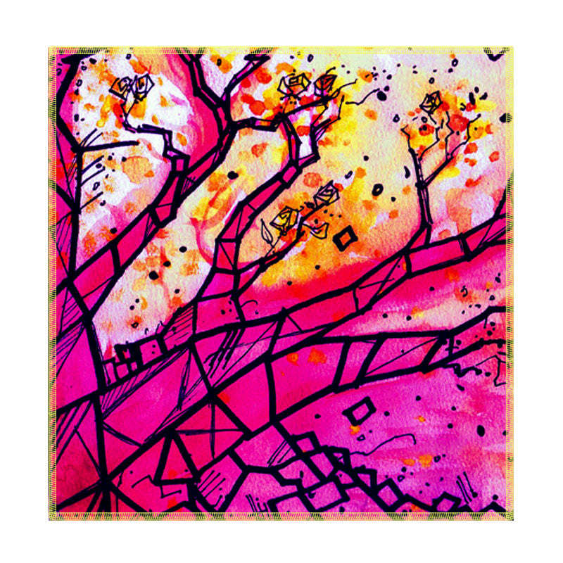 Leaf Designs Multicoloured Tree Coaster (B) - Set Of 6