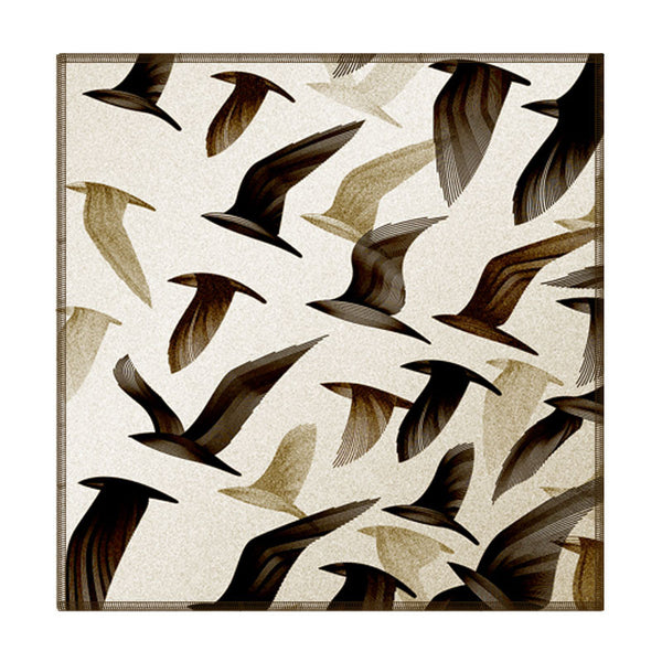 Leaf Designs Ivory Birds In Flight Coaster - Set Of 6
