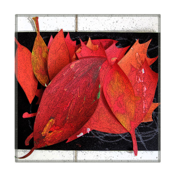 Leaf Designs Red Leaves Coaster - Set Of 6
