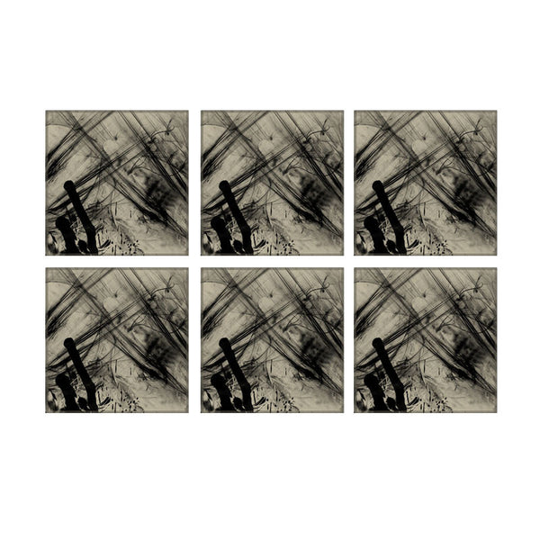 Leaf Designs Grey Nature Coaster - Set Of 6