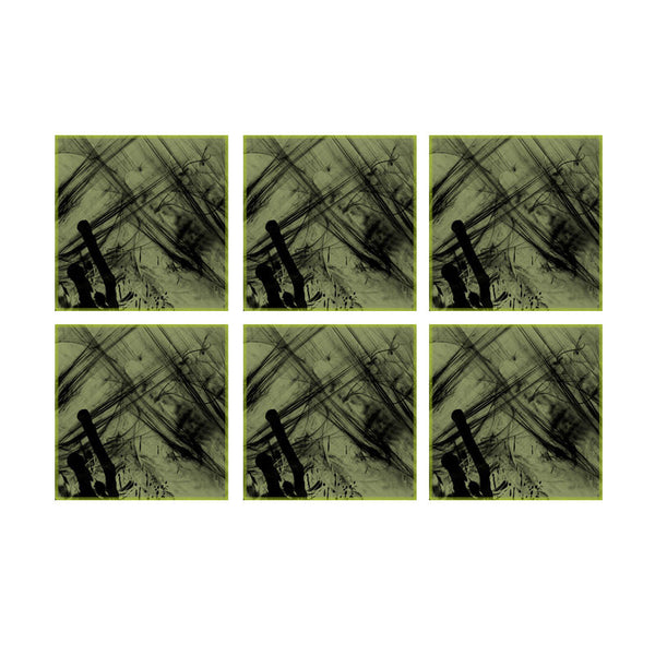 Leaf Designs Green Nature Coaster - Set Of 6