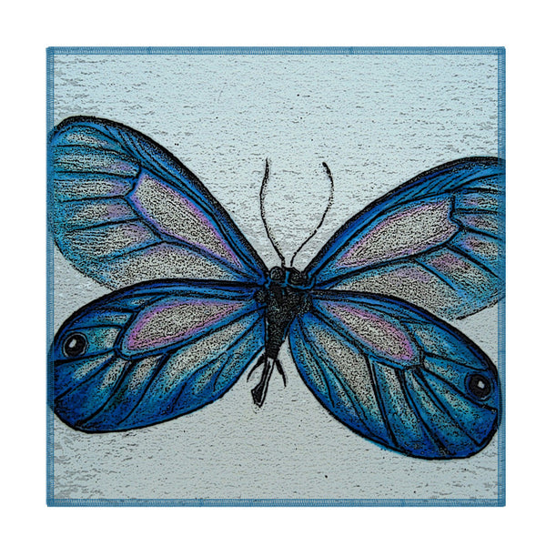 Leaf Designs Blue Grey Butterfly Coaster - Set Of 6