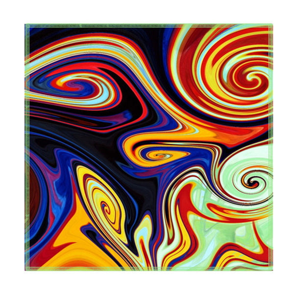Leaf Designs Multicoloured Paint Waves Coaster - Set Of 6