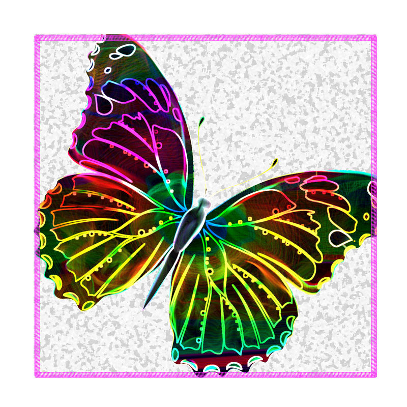 Leaf Designs Neon Butterfly Coaster - Set Of 6