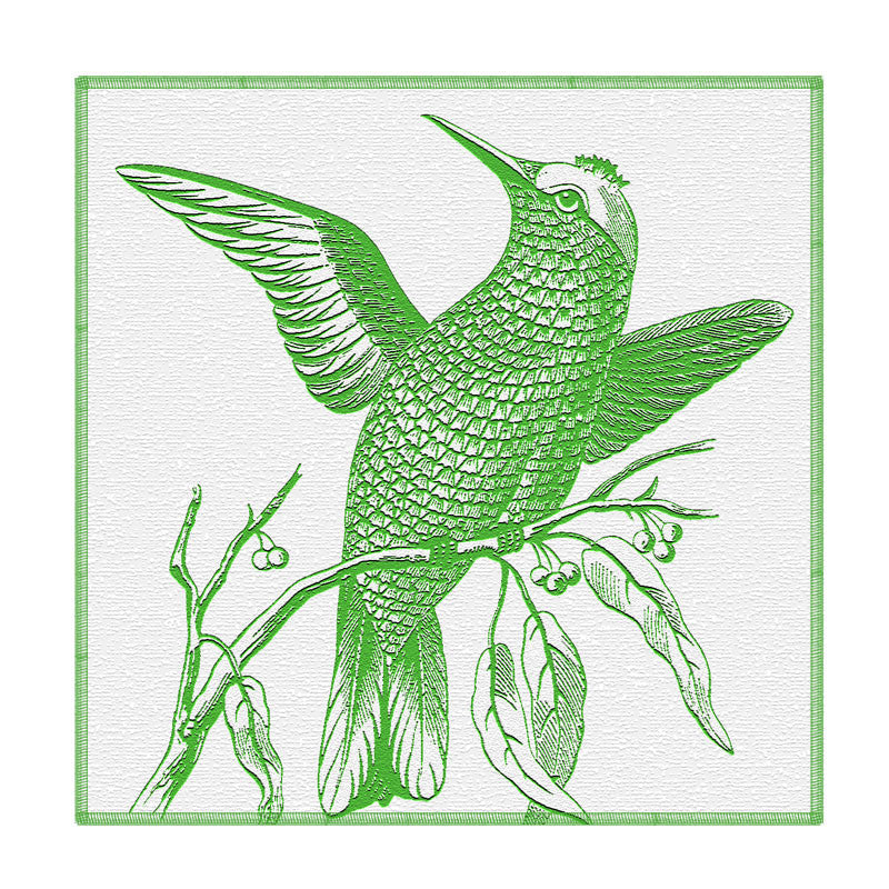 Leaf Designs Green Bird Coaster - Set Of 6